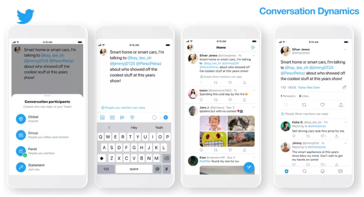 screenshot showing twitters new conversation settings
